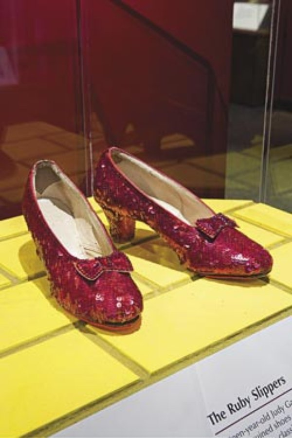 Wizard Of Oz Red Shoes From The Bacl