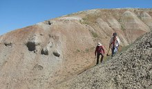 Researchers at Wyoming dig site