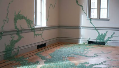 Maya Lin Used 54,000 Marbles to Model the Chesapeake Bay