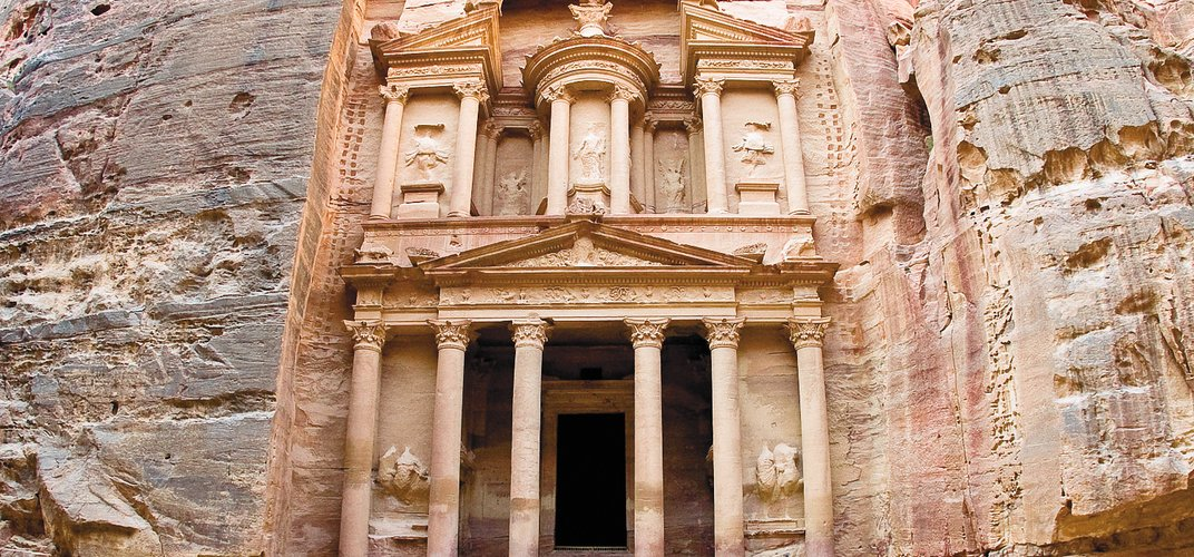 The iconic Treasury in Petra