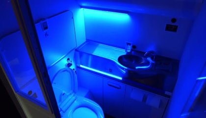 The Sky Might Soon Be Flush With Self-Cleaning Bathrooms