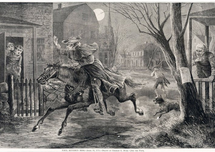 Caption: The Midnight Ride of Paul Revere and Some Others