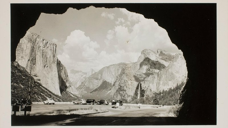 Photographer unknown, Yosemite Valley from tunnel view, ca. 1940