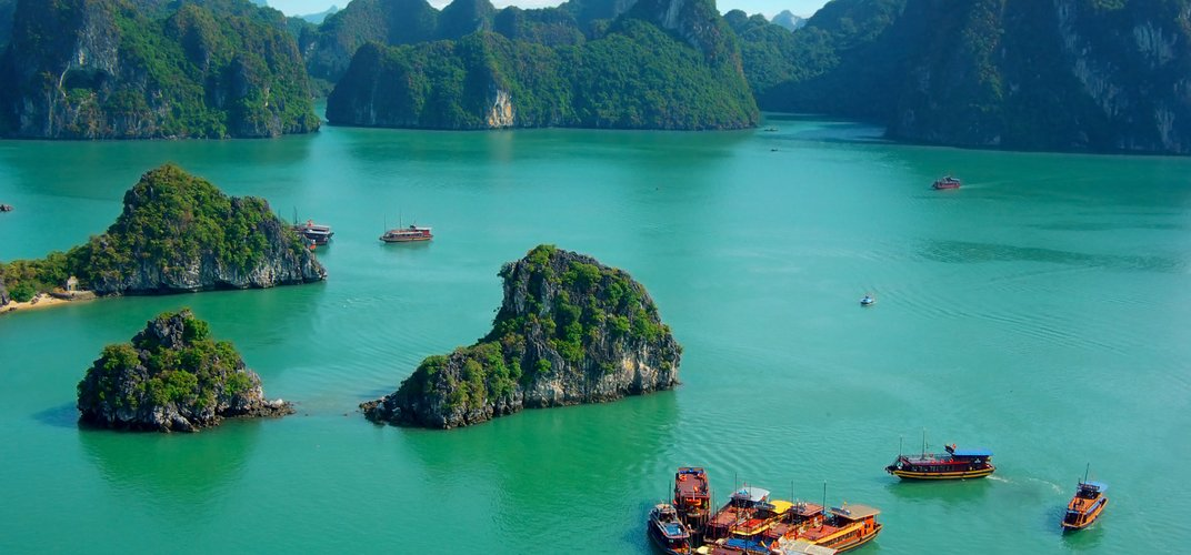 The breathtaking Ha Long Bay