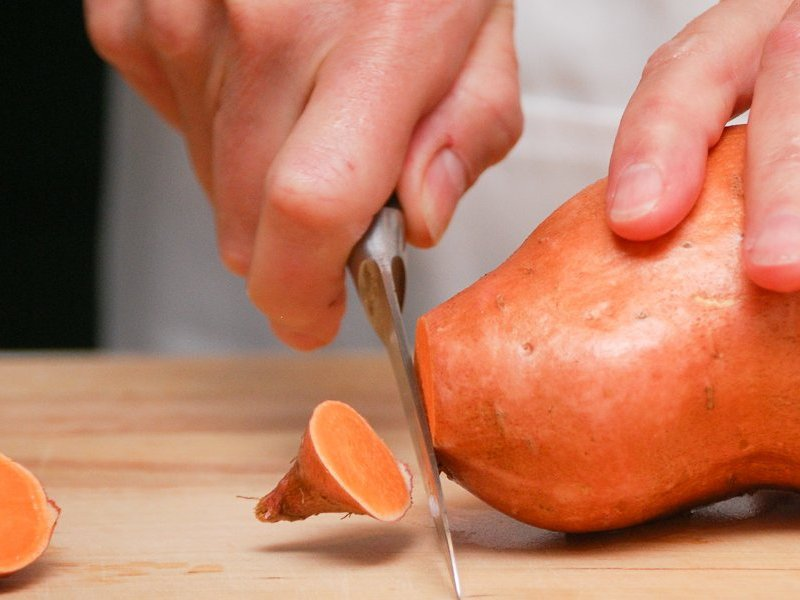 Sweet Potato cutting