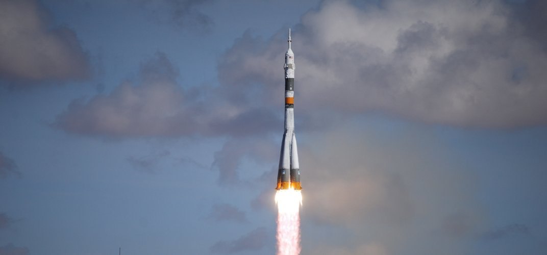 A Soyuz rocket in flight