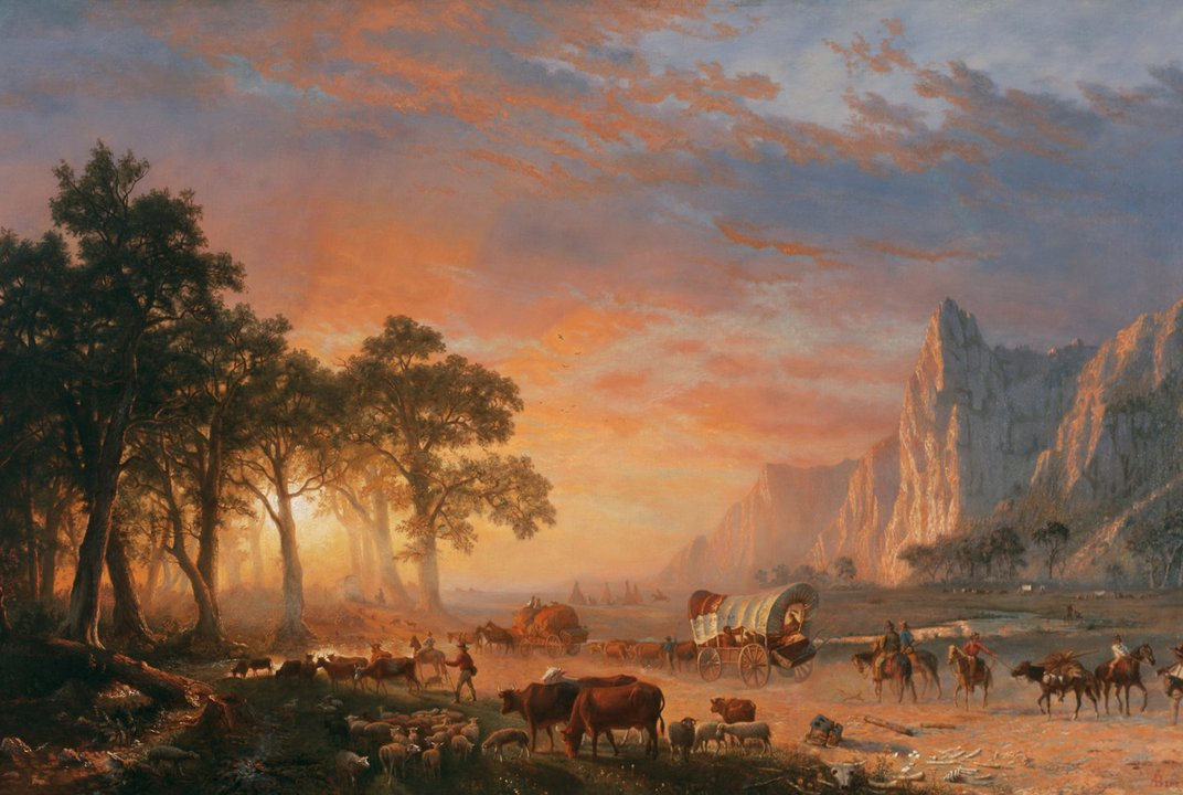 A painted depiction of the Oregon Trail. (Creative Commons)