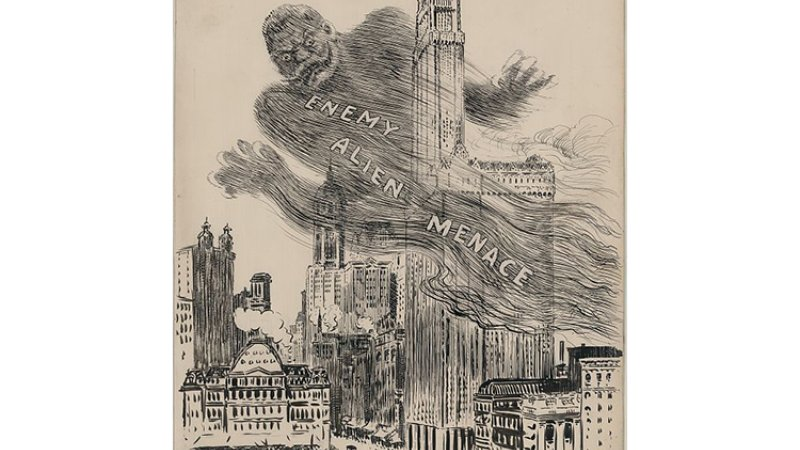 An image printed in the New York Herald on March 28, 1918, depicts the