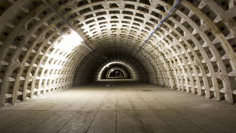One of London's abandoned air raid shelters, now being used as an underground urban farm.