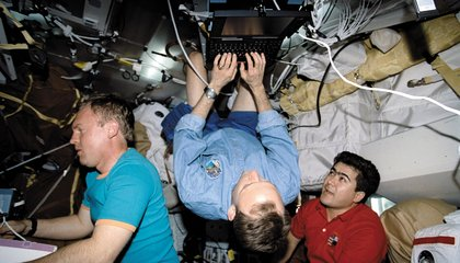 Astronauts Forget About Gravity