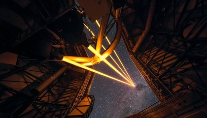 Astronomers Deploy a Laser System for a Clearer View of the Skies