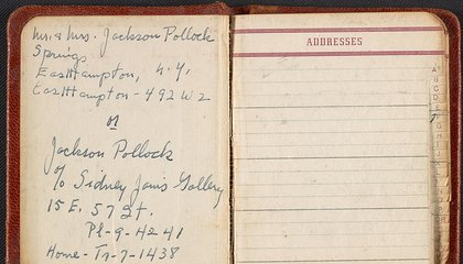 What's Inside Jackson Pollock's Address Book?