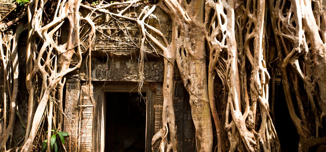 Temple door at Angkor Wat