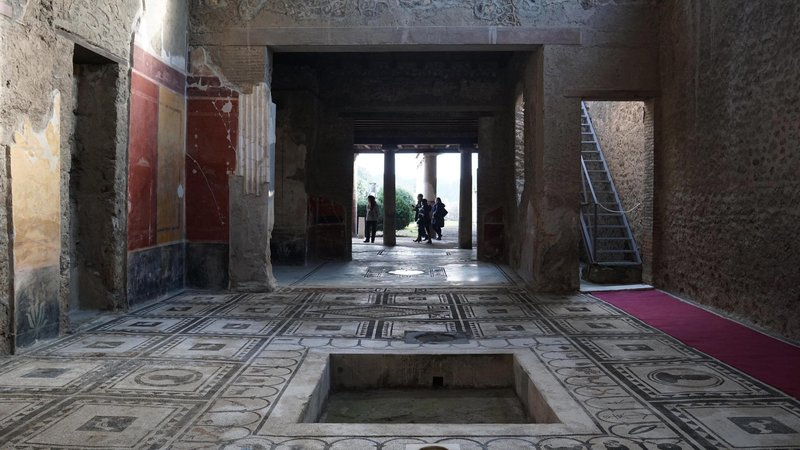 A view of the Paquius Proculus domus, one of six houses that were restored as part of the Great Pompeii Project, at the Pompeii archeological site, in Pompeii, Italy, 24 December 2015.