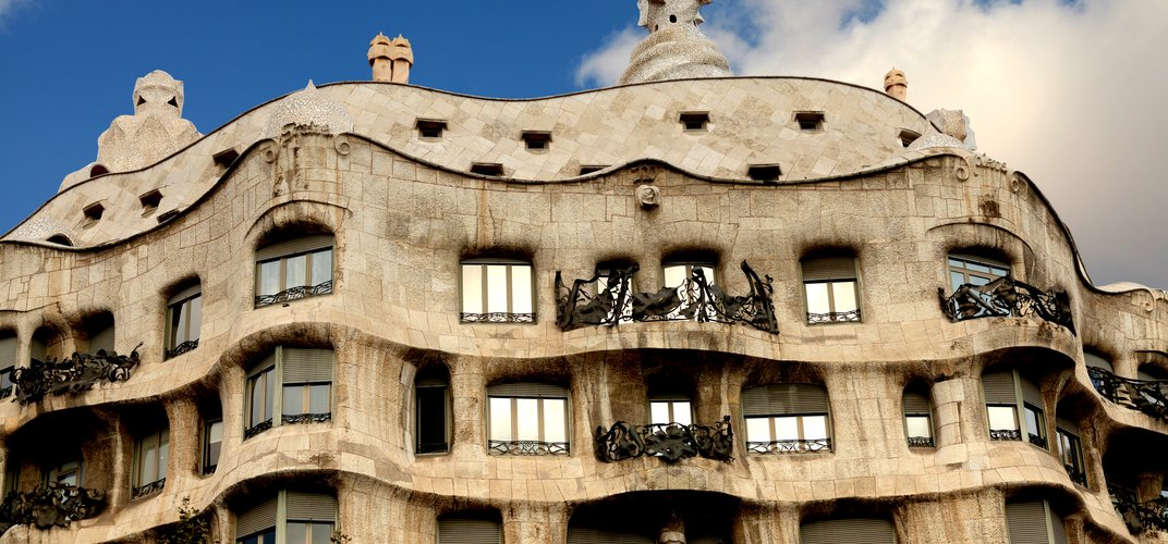 Casa Mila, an apartment building designed by Antoni Gaudi