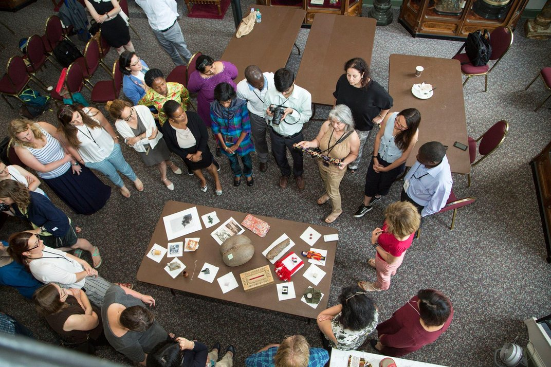 The participants during their item show-and-tell at the Participants Conference. (Michael Barnes, Smithsonian)
