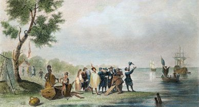 The British colonists who settled a bit of land they soon named Jamestown
