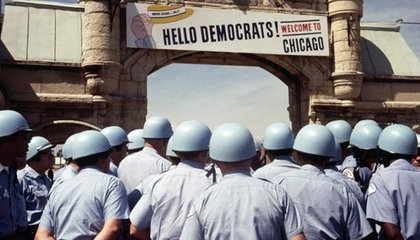 Chicago police prepared for a battle with antiwar protesters
