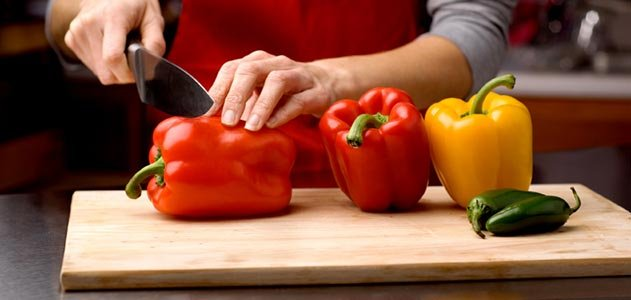 Cooking chili peppers