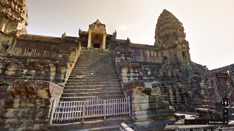 Angkor, from Google Street View.