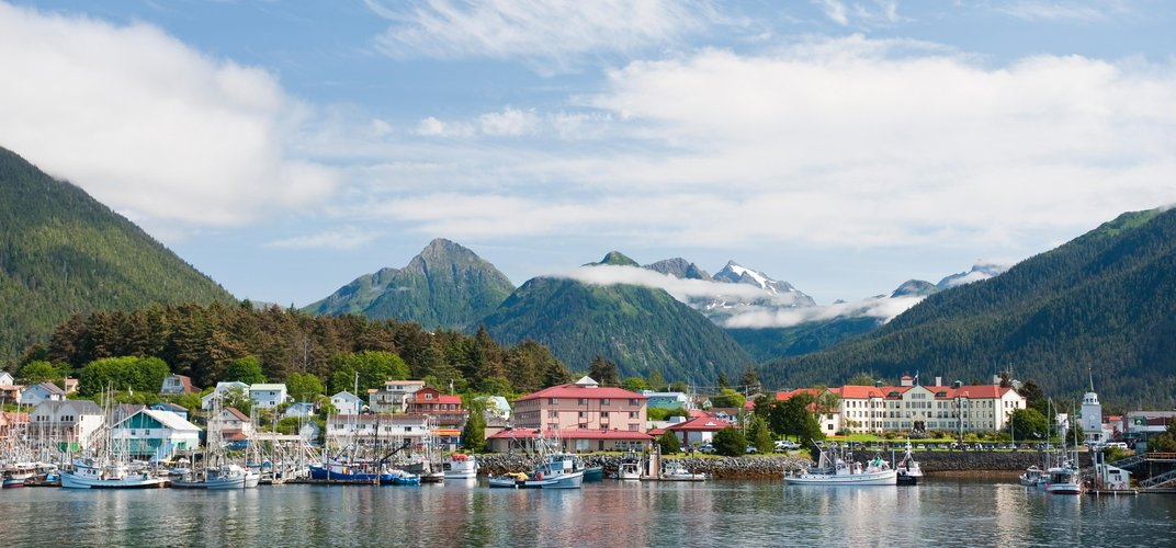 The town of Sitka. Credit: ©State of Alaska/Mark Kelley
