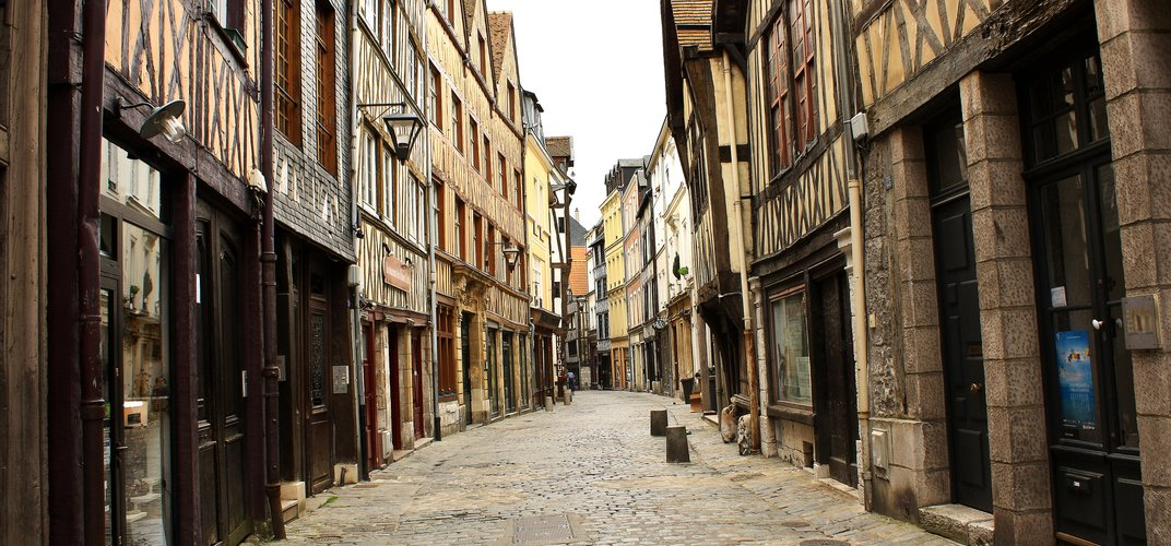 Old traditional sreet in Rouen