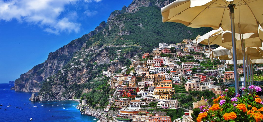 Village of Positano, along the Amalfi Coast