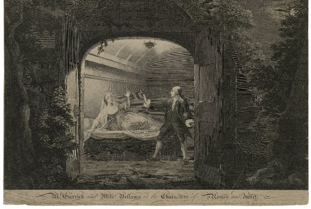 Mr. Garrick and Miss Bellamy in the characters of Romeo and Juliet, Folger Shakespeare Library Digital Image Collection