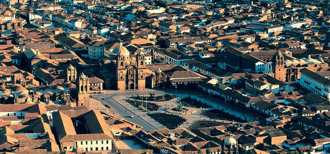 The historic city center of Cuzco in Peru