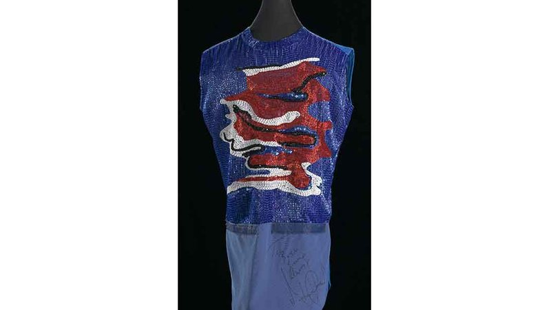 Michael Jackson signed this shirt from his costume collection for the