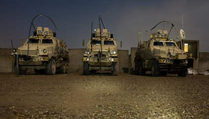 How Many Left-Over Mine-Resistant Vehicles Did Your School Get From the Military?