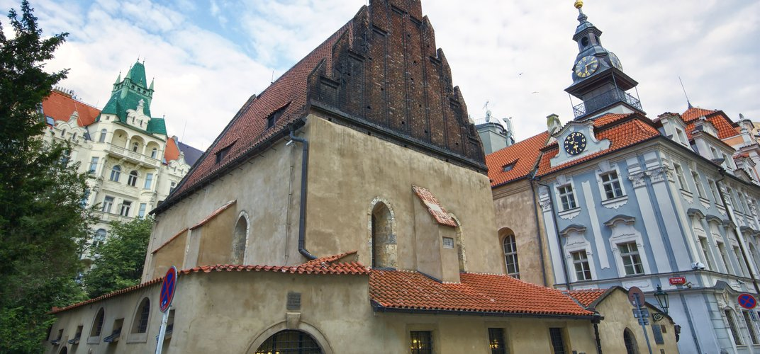 The 13th-century Old New Synagogue, Prague