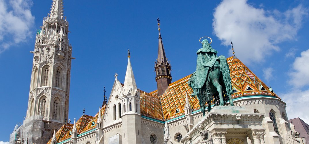 The Matthias Church, located on the Buda side of Budapest