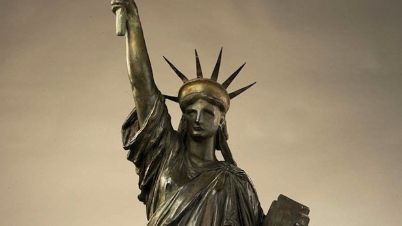 Bartholdi's mode of the Statue of Liberty. Courtesy of American Art
