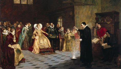 A Painting of John Dee, Astrologer to Queen Elizabeth I, Contains a Hidden Ring of Skulls