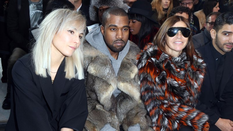 Superstar rapper Kanye West, seen here at a Givenchy fashion show, has planted something more than mere international-rich-person roots in Paris.