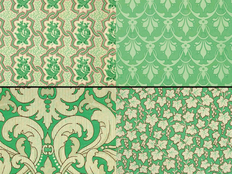 historical wallpaper with green - photo #8