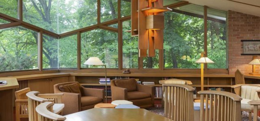 Caption: Home Designed by Frank Lloyd Wright Is For Sale