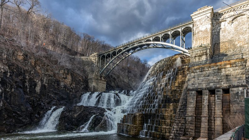 The Croton Dam in upstate New York is part of New York City's water supply, which provides New Yorkers clean water through natural, not artificial, filtration.