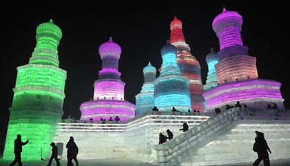 All the World's a Frozen Sculpture at China's Ice and Snow Festival
