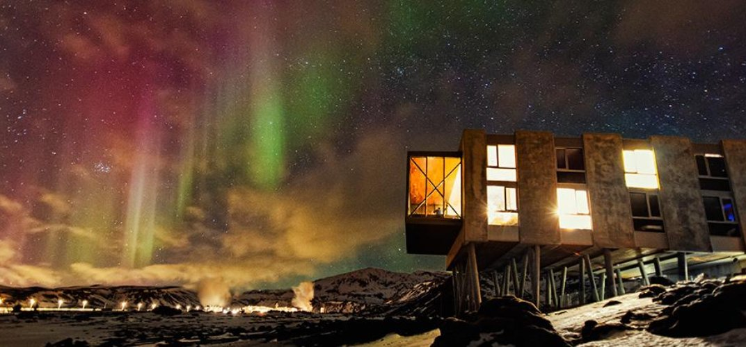 The Northern Lights as seen from the ION Hotel. Credit: The ION Hotel