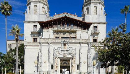 Hearst Castle Has a Brush With California's Wildfires