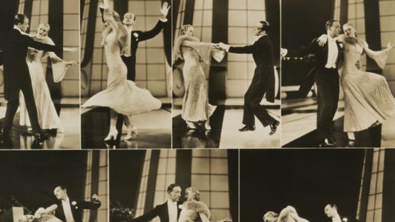 Fred Astaire and Ginger Rogers in 1936, by an unidentified artist