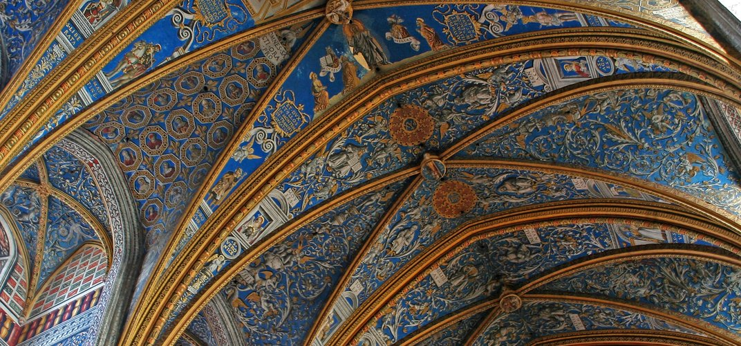 The intricate transepts of the Cathedral St. Cecile in Albi