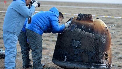 Chinese Test Capsule Returns from Moon