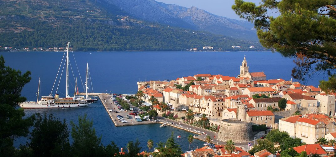 The town of Korcula, along the Dalmatian Coast
