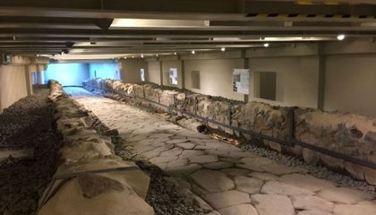 New McDonalds Has a Cool Design Element: an Ancient Roman Road