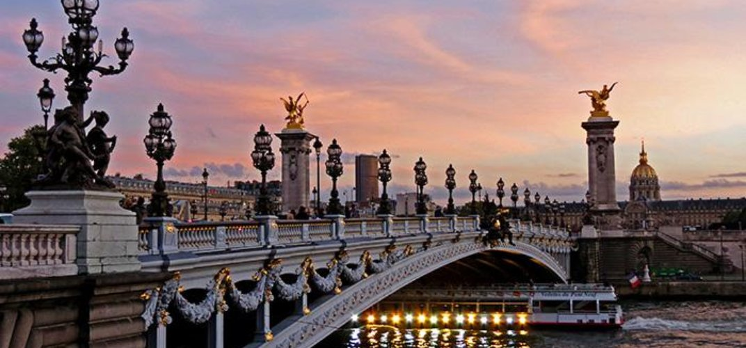 The City of Light at sunset. Credit: Suzanne Silagi