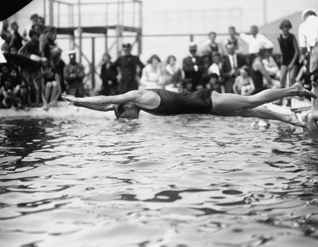 Johnny Weissmuller, Swimming