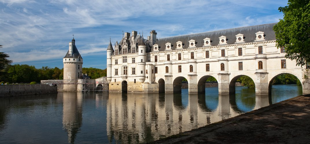 Chenonceau, situated over the River Cher